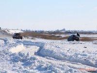 Дорога на Арабатскую стрелку в ледяном и снежном плену - эксклюзивный репортаж (фото+видео)