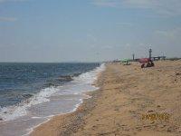 На пляже Арабатской стрелки появились первые туристы(фото и видео)