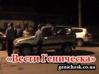 На Арабатской стрелке парень пытался сорвать флаг Украины!!!(видео)