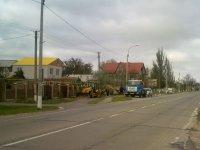 Порыв водопровода по ул. Ленина в с. Счастливцево