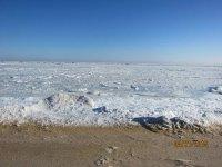 08.01.2015 Азовское море замерзло!!!(видео)
